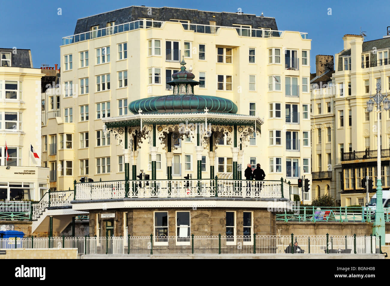 Newly restored Brighton Bandstand, Brighton and Hove, East Sussex, UK - Stock Image