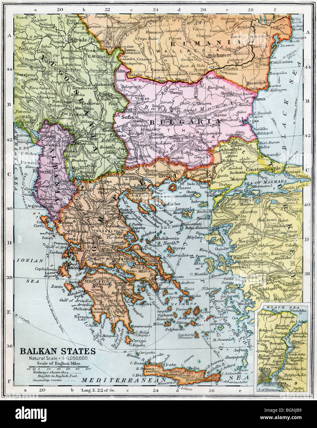 The Balkan States between the First and Second World Wars. - Stock Image