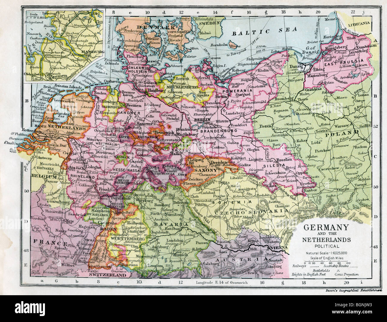 Germany and the Netherlands between the First and Second World Wars. - Stock Image