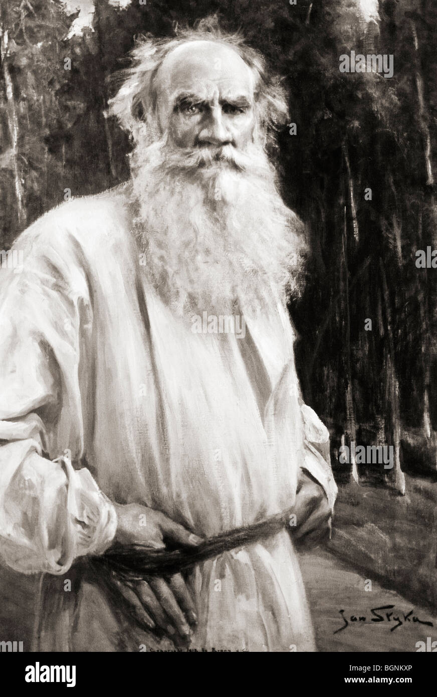 Count Leo Tolstoy 1828 to 1910. Russian novelist. - Stock Image