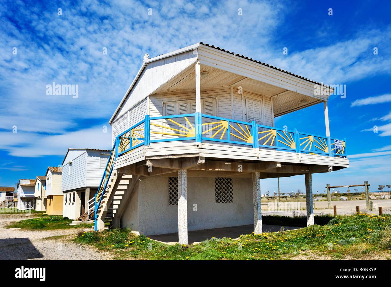 Plage Des Chalets A Gruissan gruissan plage stock photos & gruissan plage stock images
