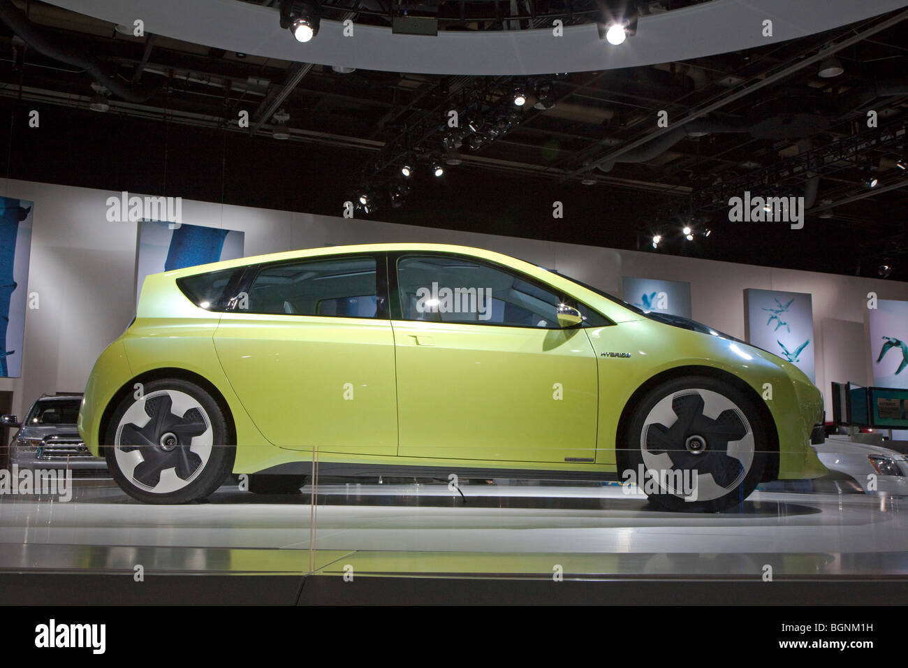 The Toyota FT-CH hybrid concept car - Stock Image