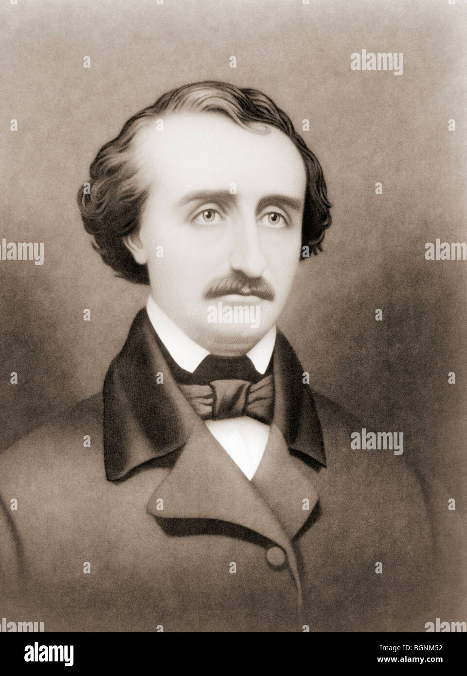 Edgar Allan Poe, 1809 to 1849. American writer. - Stock Image
