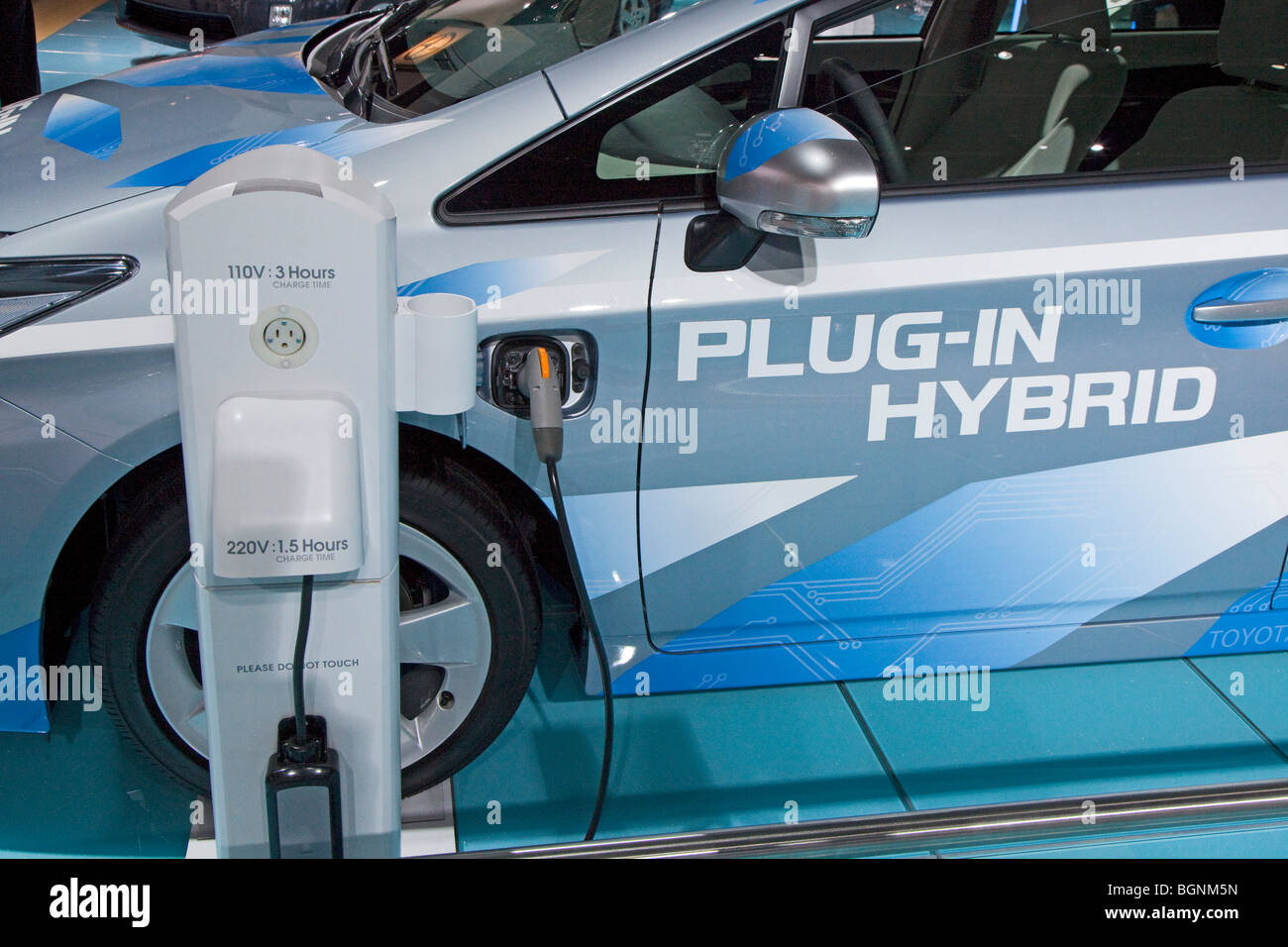 The Toyota Prius plug-in hybrid concept car - Stock Image