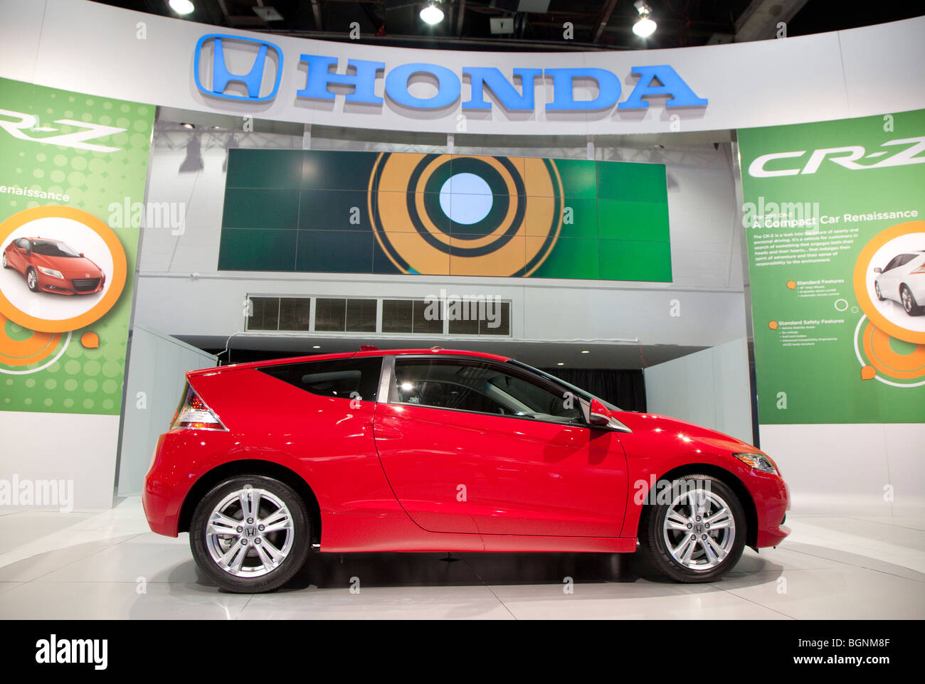 Detroit, Michigan - The Honda CR-Z hybrid sports coupe on display at the 2010 North American International Auto - Stock Image