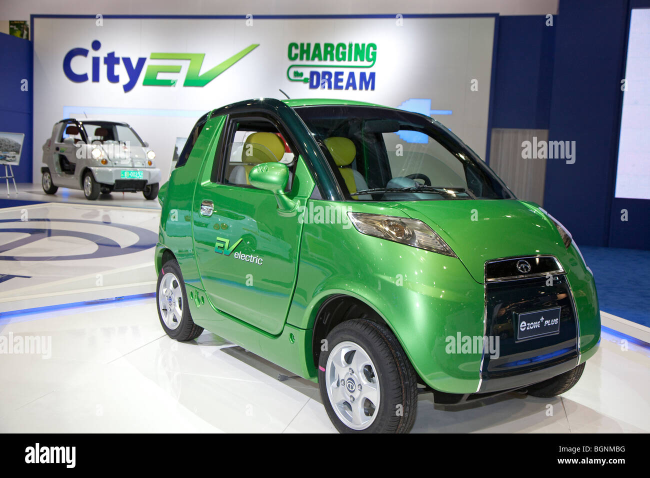The Korean-made CT&T plug-in electric car - Stock Image