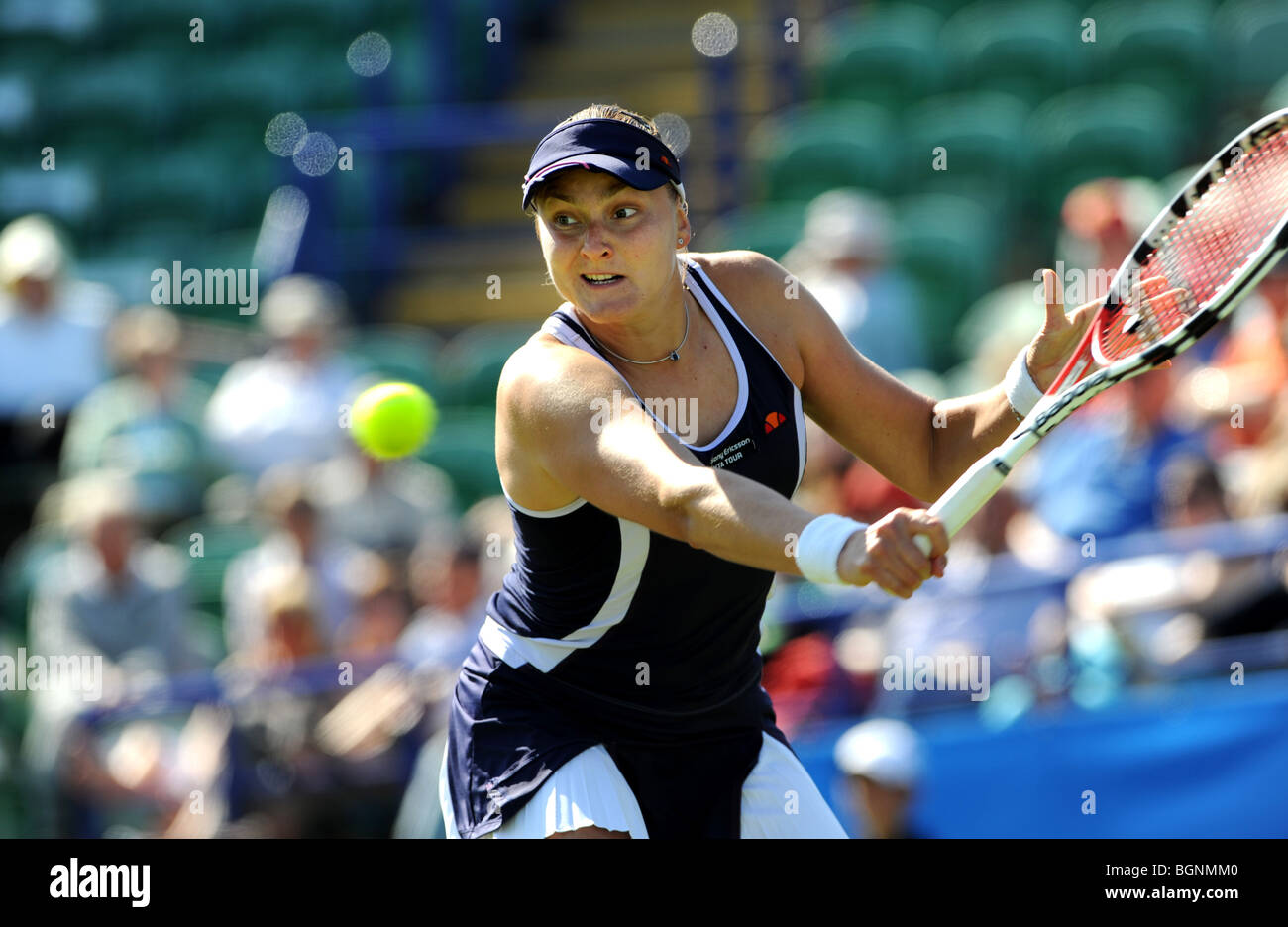 Nadia Petrova in action at the Aegon International 2009 Tennis Championships at Devonshire Park Eastbourne - Stock Image