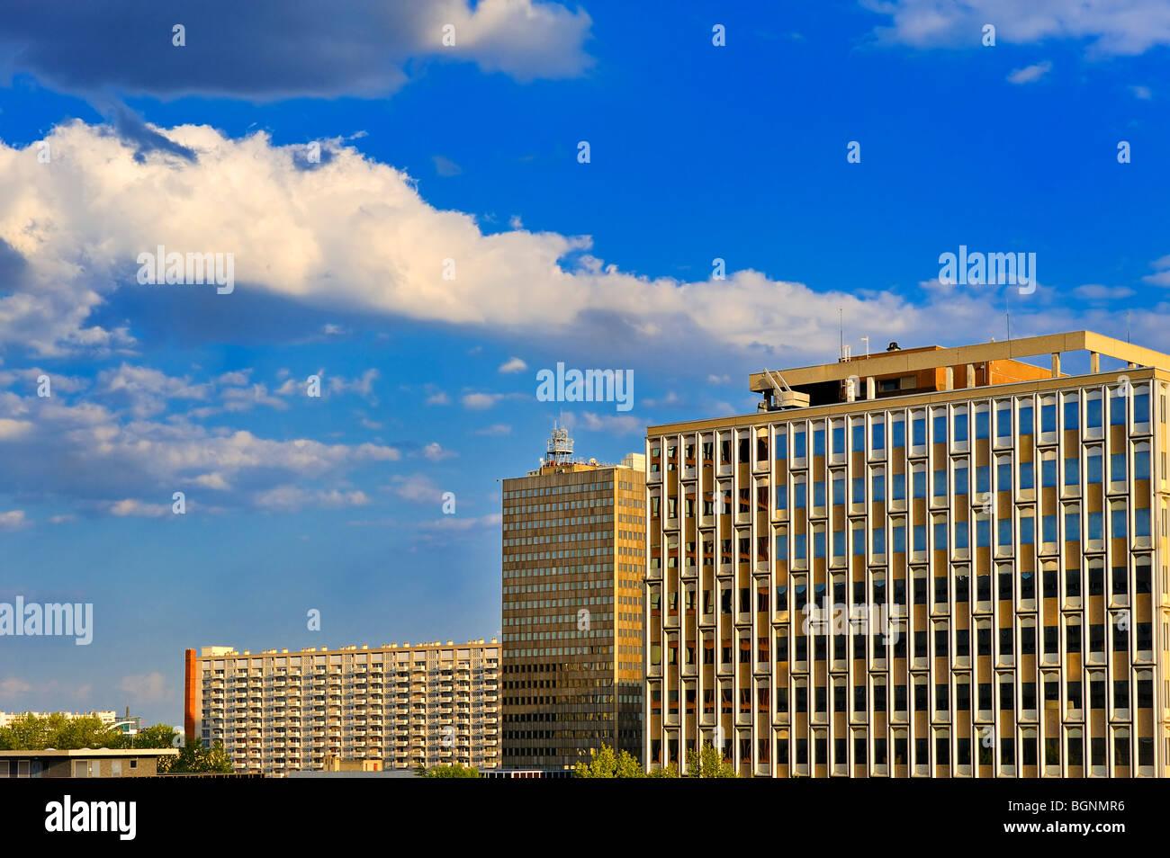Buildings, Lyon, France. - Stock Image