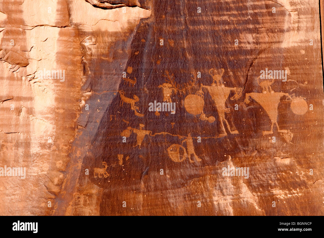 Anasazi Petroglyphs, Canyonlands National Park, USA - Stock Image