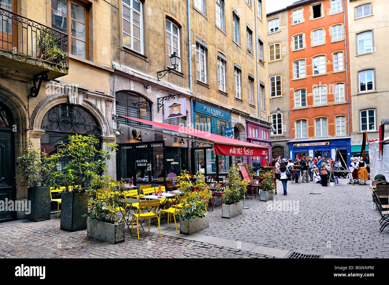 Place de La Baleine, Lyon, France. - Stock Image