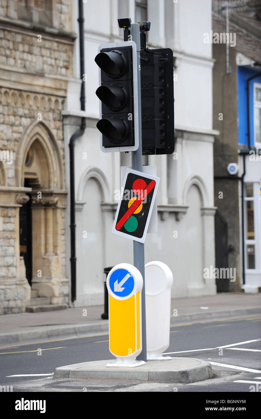 Out of order traffic lights - Stock Image