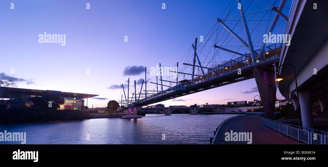 Kurilpa Bridge Brisbane Australia - Stock Image