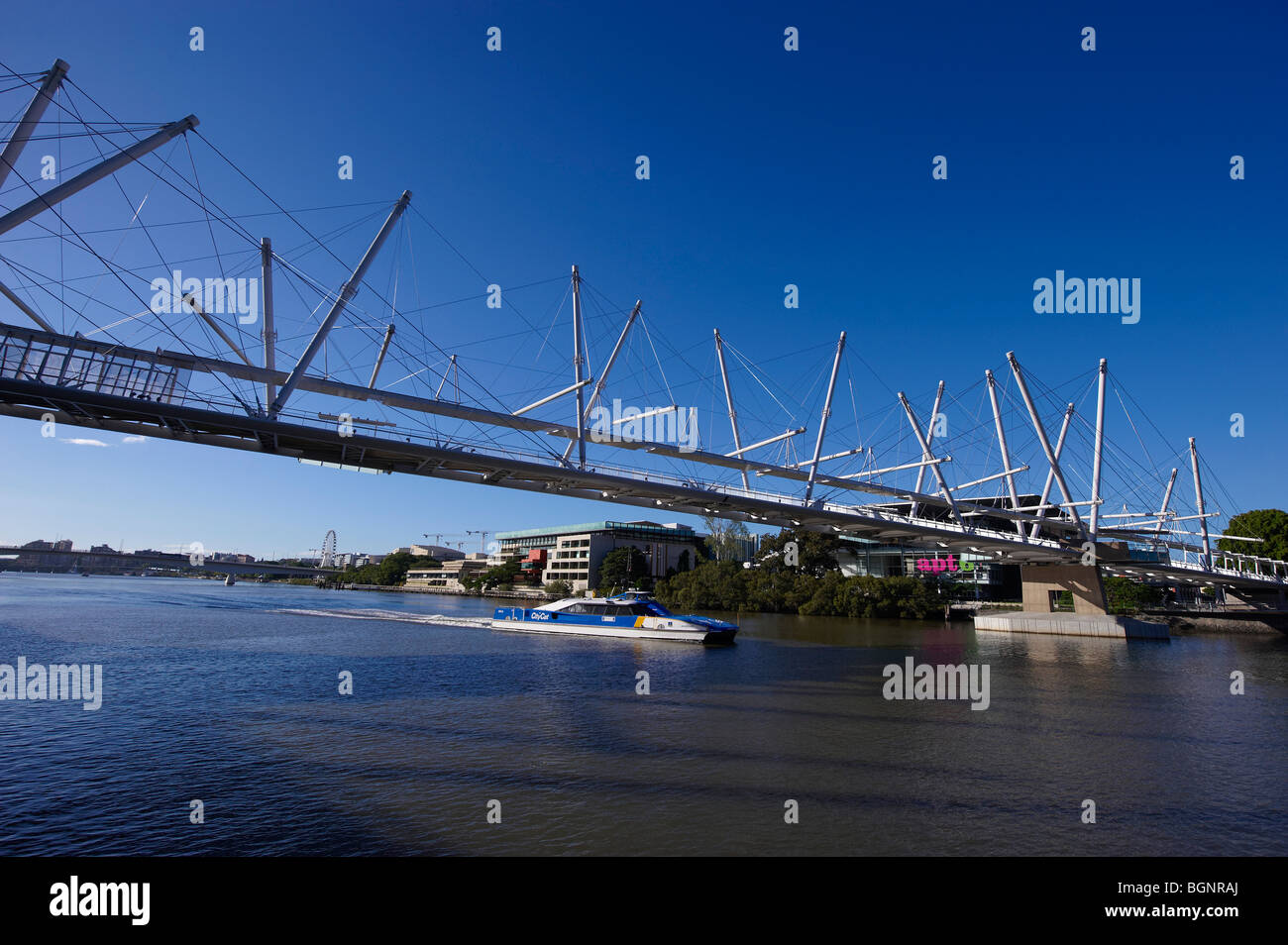 Kurilpa Bridge Brisbane Queensland Australia - Stock Image