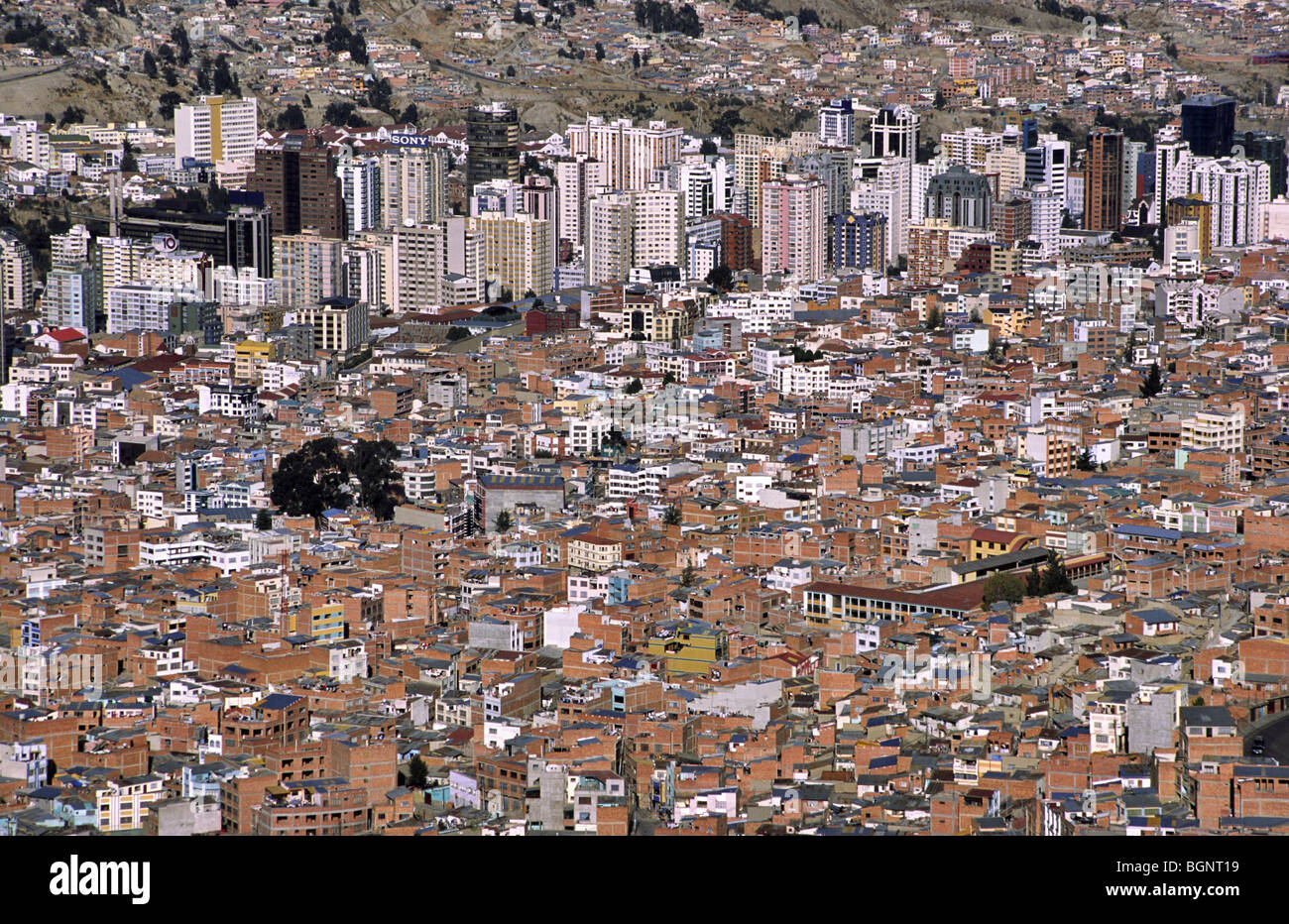 Down town La Paz, capital of Bolivia Stock Photo