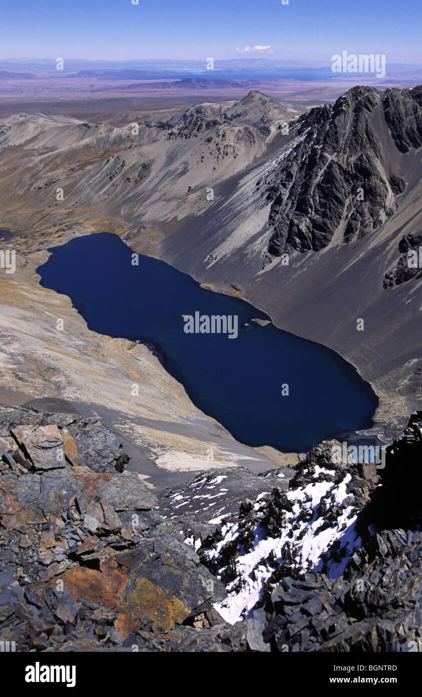 Alkakhota lake, Cordillera real, Bolivia. - Stock Image
