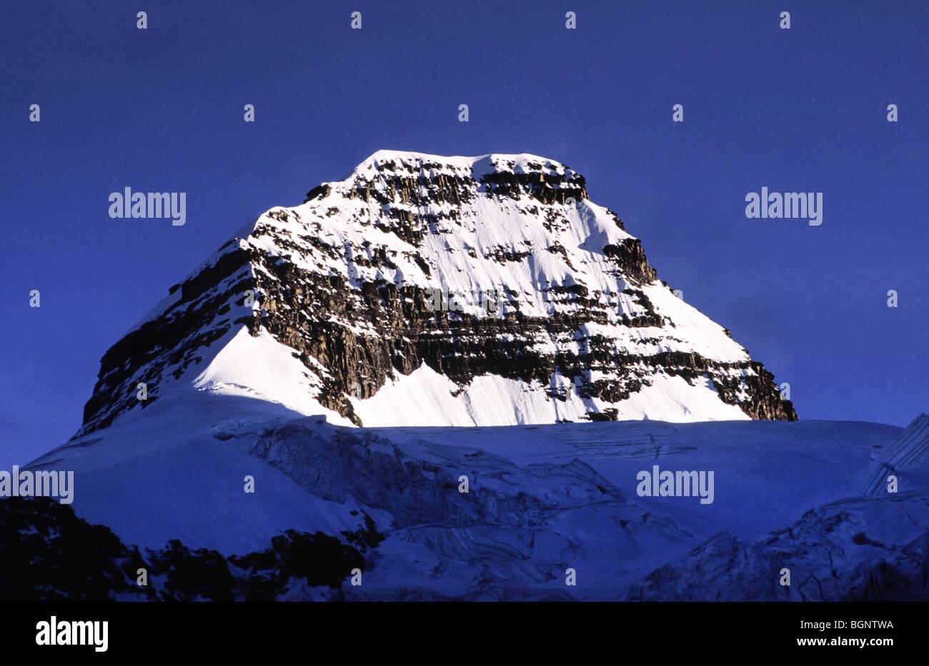 Top of Mt Condoriri. Cordillera Real, Bolivia. - Stock Image