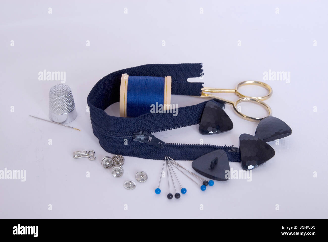 Sewing implements - Stock Image