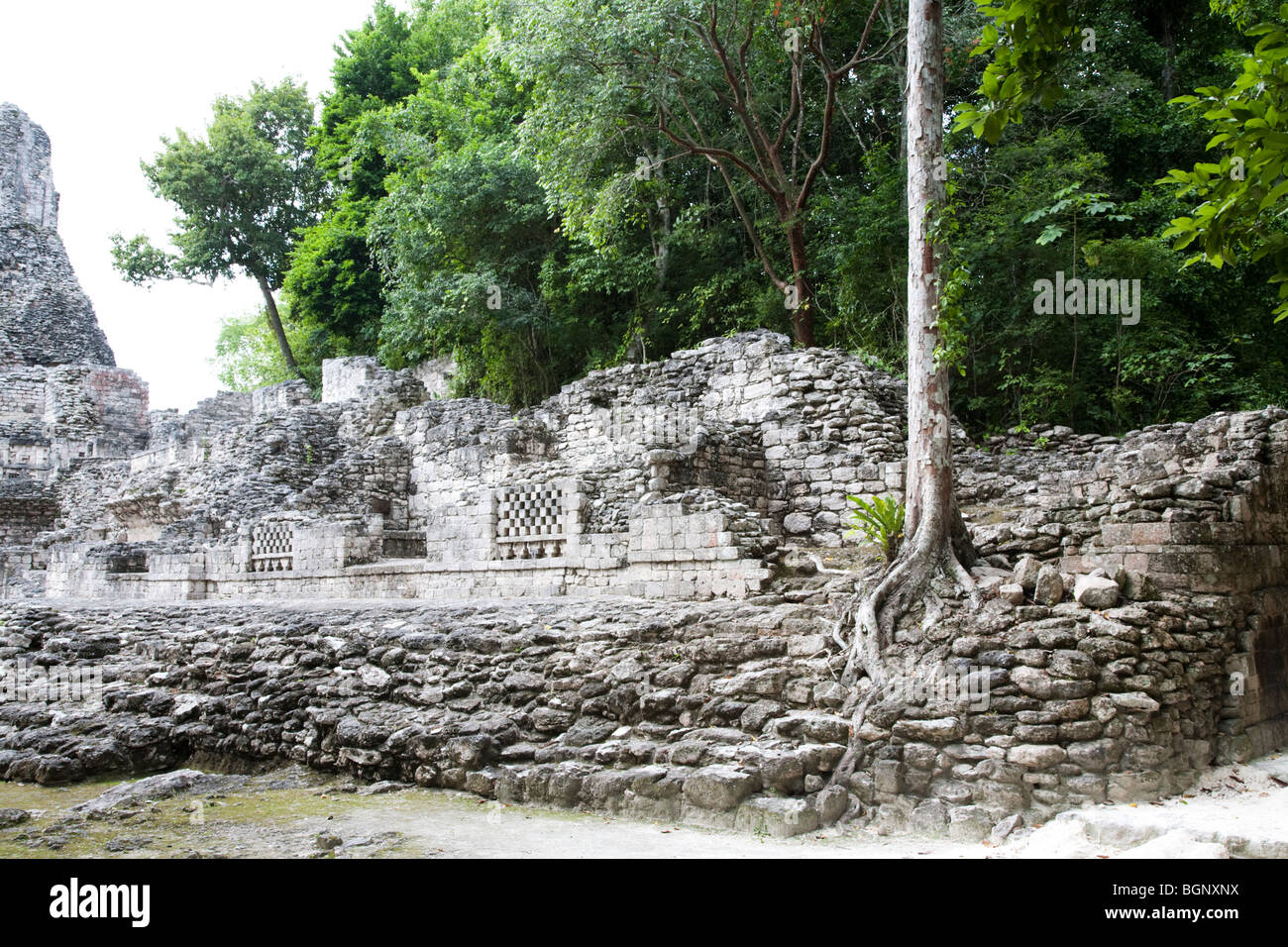 Becán Maya Ruins archaeology site, Campeche Mexico. - Stock Image