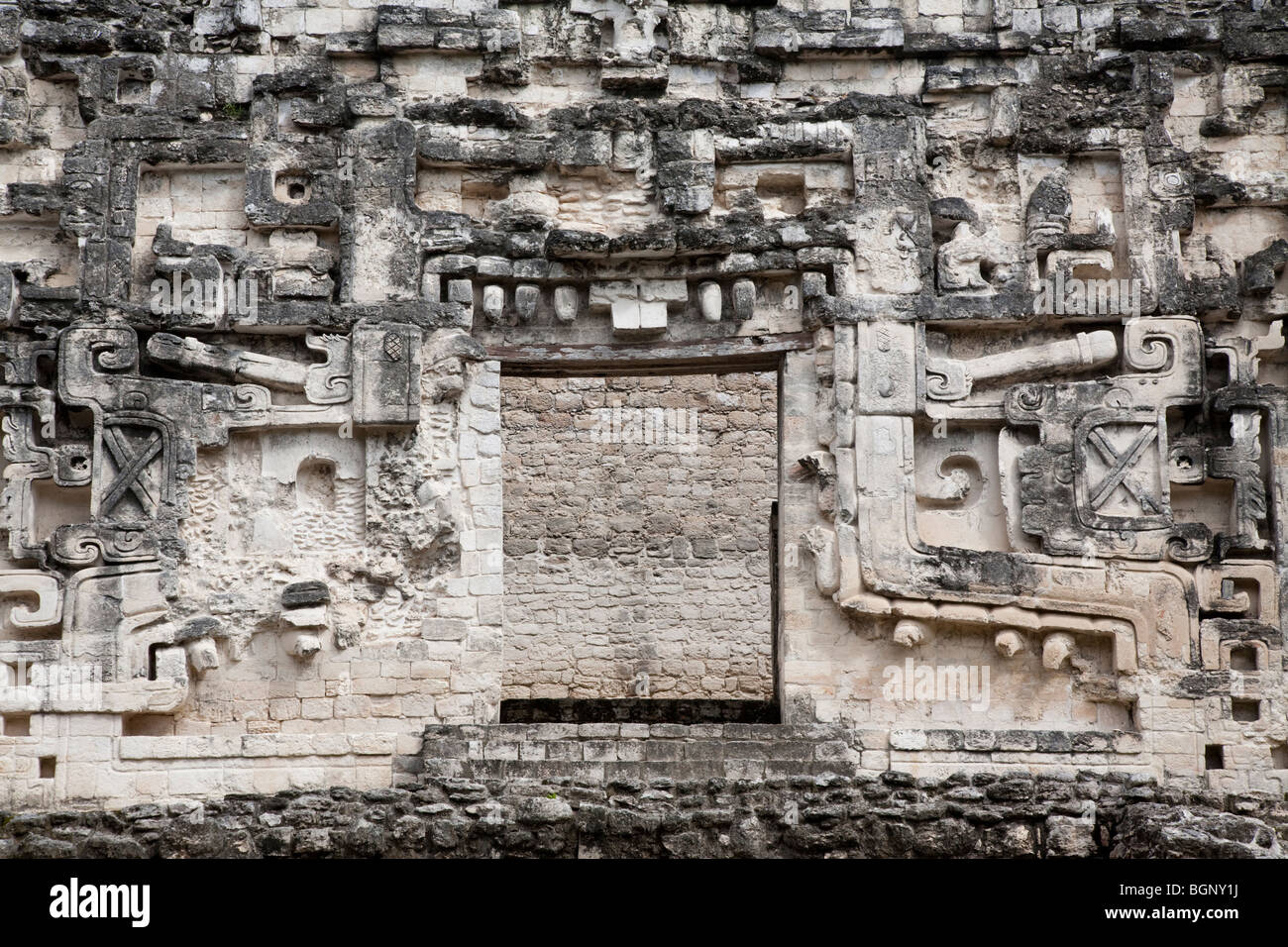 Structure III. Hormiguero Maya Ruins archaeology site, Campeche Mexico. - Stock Image