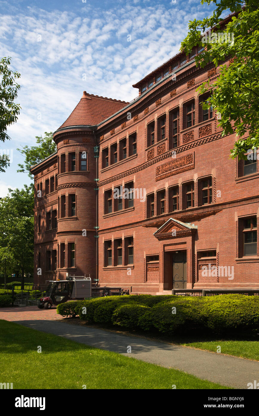 SEVER HALL was completed in 1880 and is a National Historic Landmark on HARVARD UNIVERSITY - CAMBRIDGE, MASSACHUSETTS - Stock Image