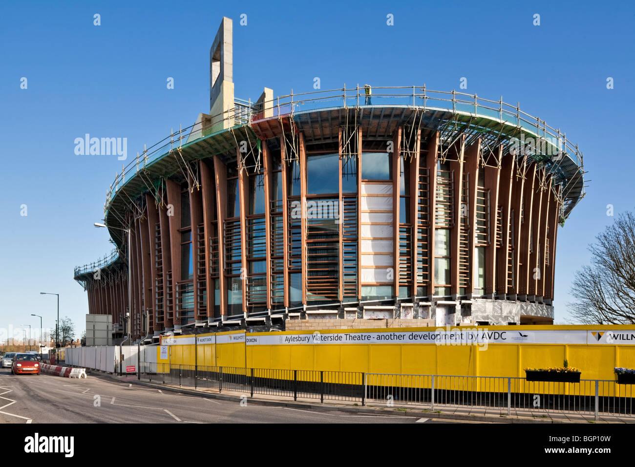 Waterside Theatre site in Aylesbury, Buckinghamshire - Stock Image