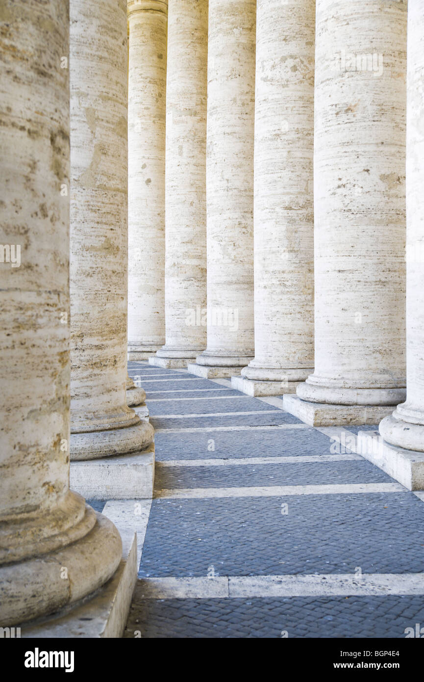 Columns in Saint Peter's Square, Rome, Italy - Stock Image