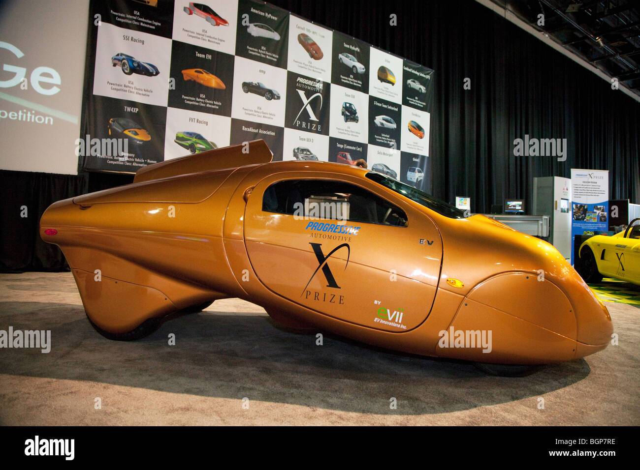 The EV Innovations entry in the Automotive X Prize competition - Stock Image
