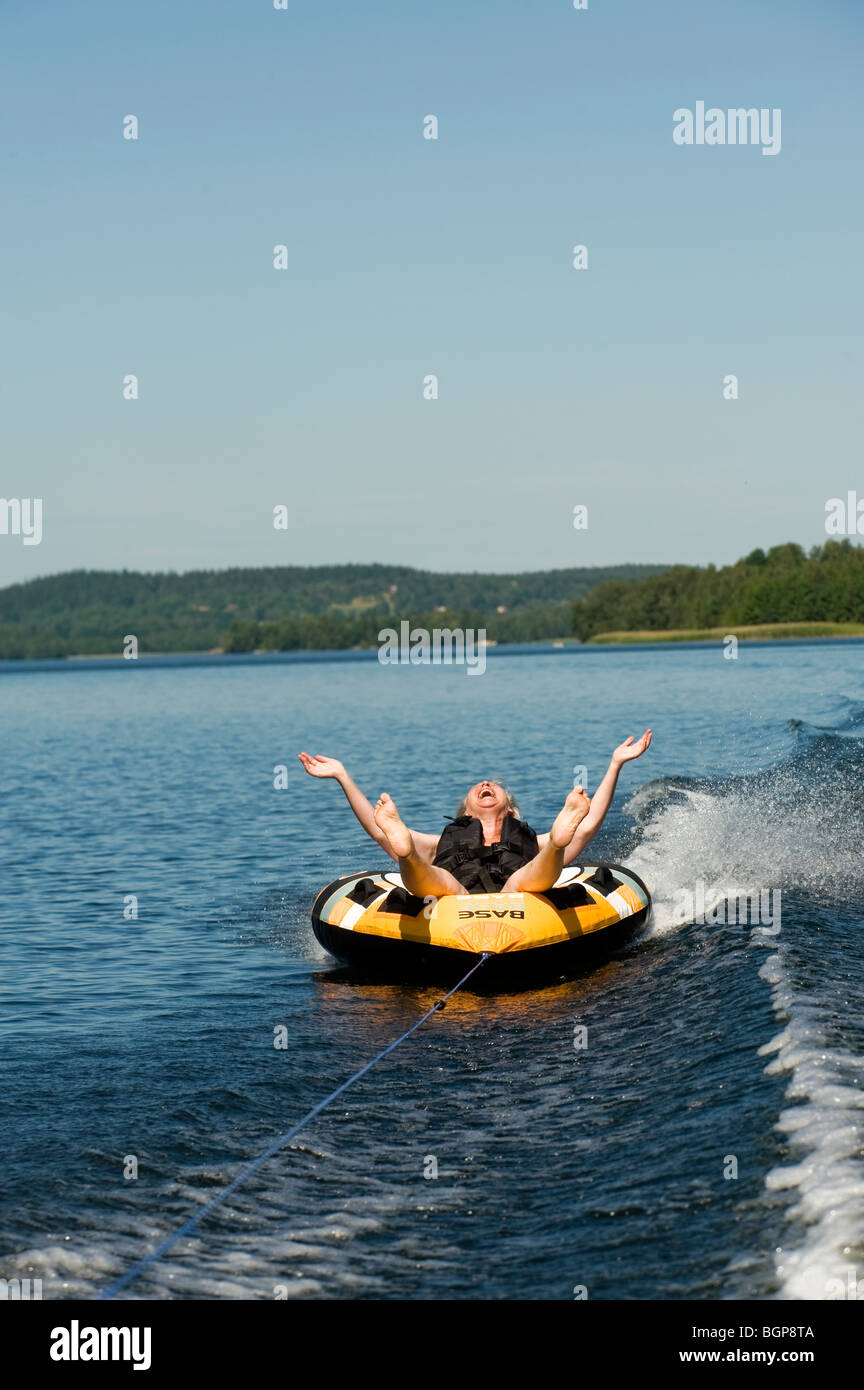 A woman in a bathing ring, Sweden Stock Photo: 27534762 - Alamy