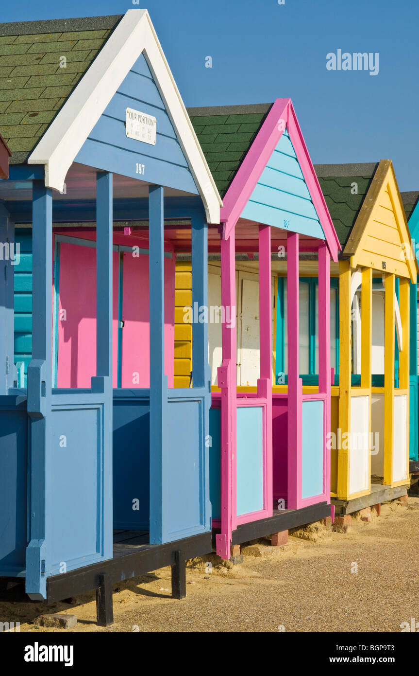 southwold beach huts suffolk east anglia england gb uk eu europe - Stock Image