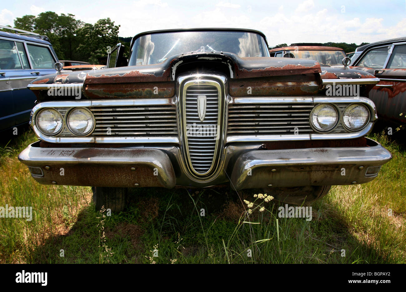 Classic Car Junk Yard Scrap Stock Photos & Classic Car Junk Yard ...