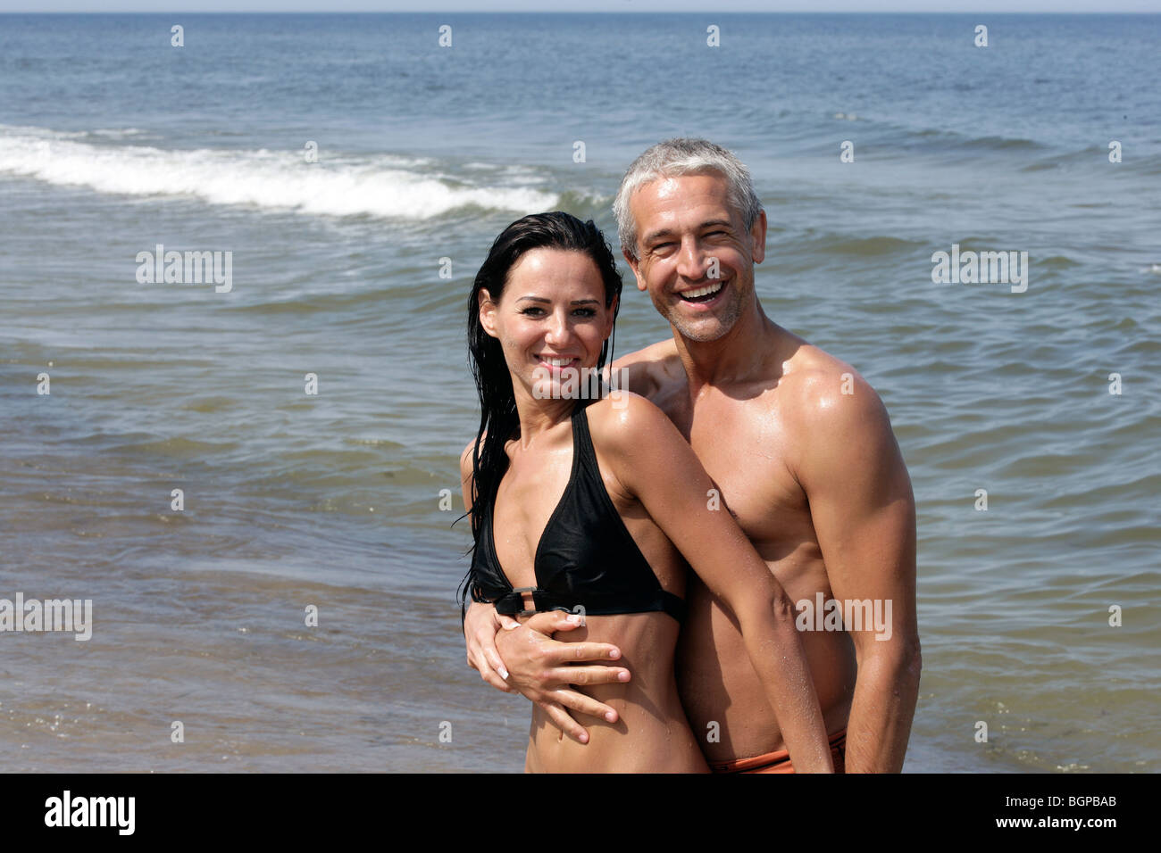 Mature beach photos