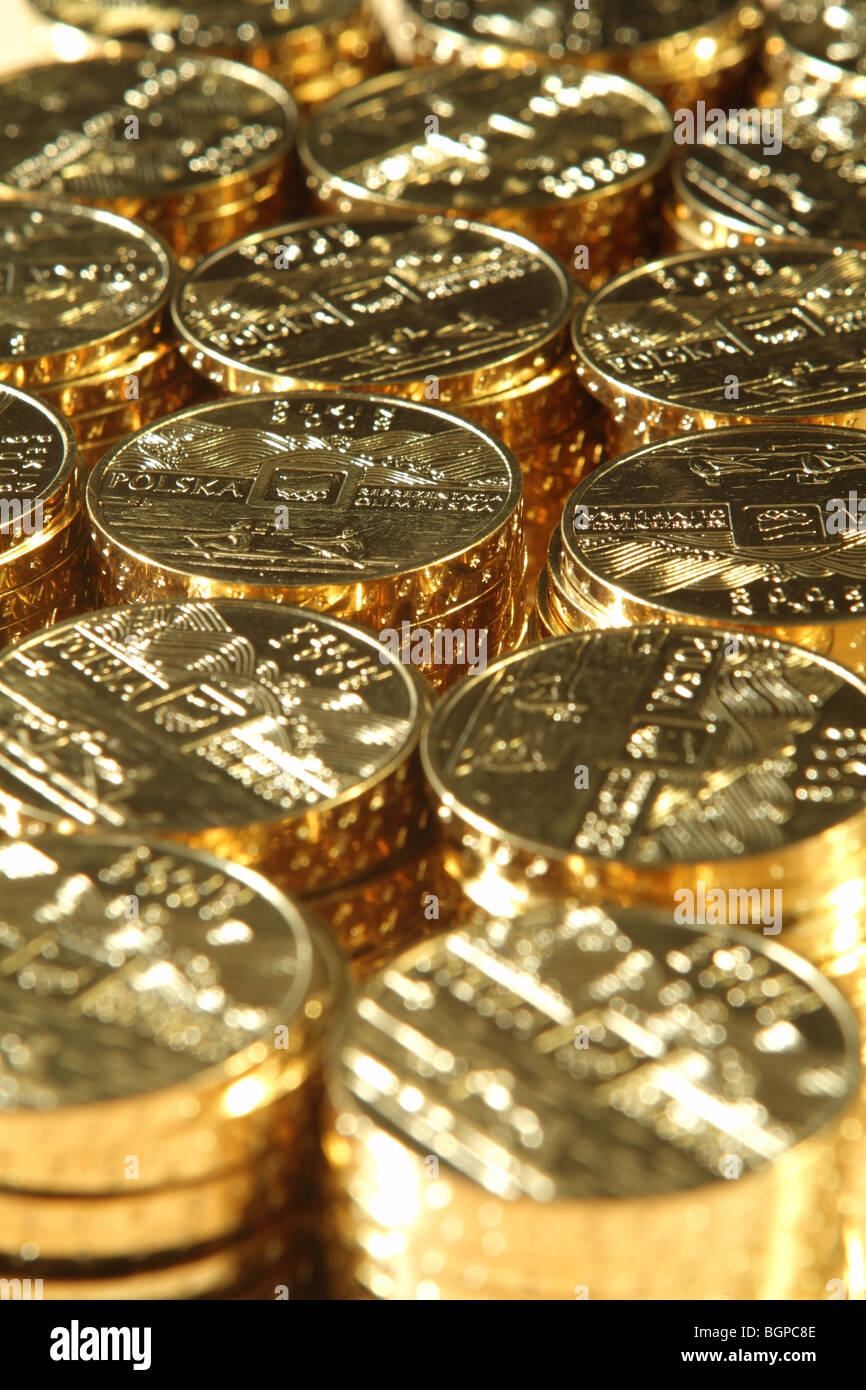 Gold coins - Stock Image