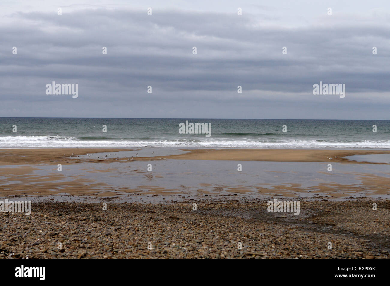 Middle beach summerlease bude - Stock Image