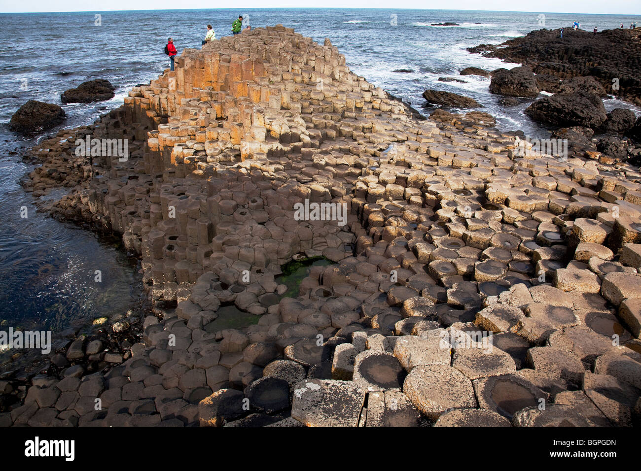 The Island at the Giant's Causeway Antrim Northern Ireland a natural phenomena and a world heritage site. - Stock Image