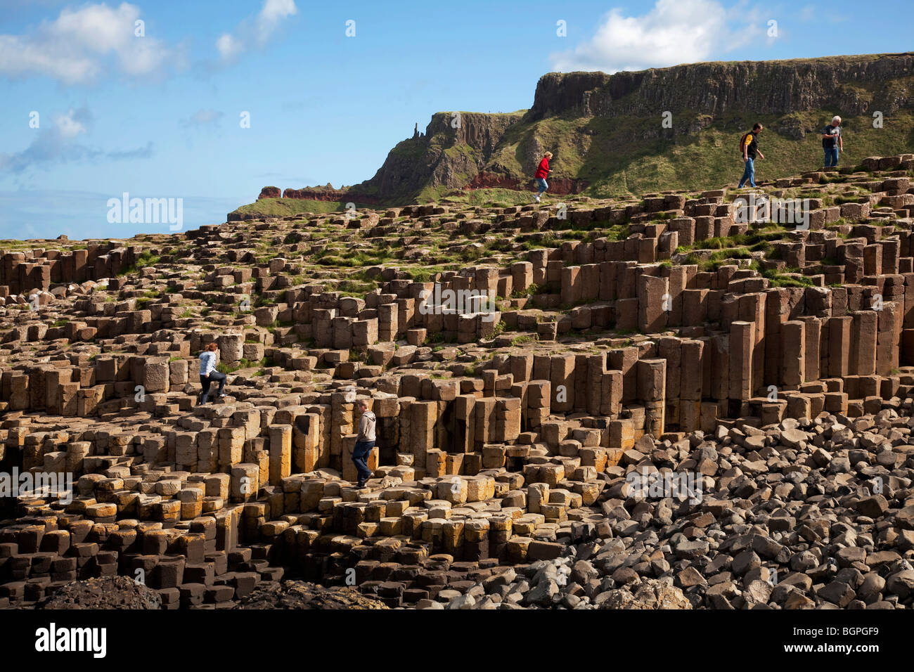 Giant's Causeway Antrim Northern Ireland a natural phenomena and a world heritage site. - Stock Image