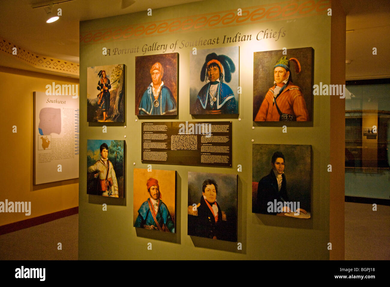 Native American Chiefs at the PEABODY MUSEUM of ARCHAEOLOGY and ETHNOLOGY at HARVARD UNIVERSITY CAMBRIDGE, MASSACHUSETTS - Stock Image