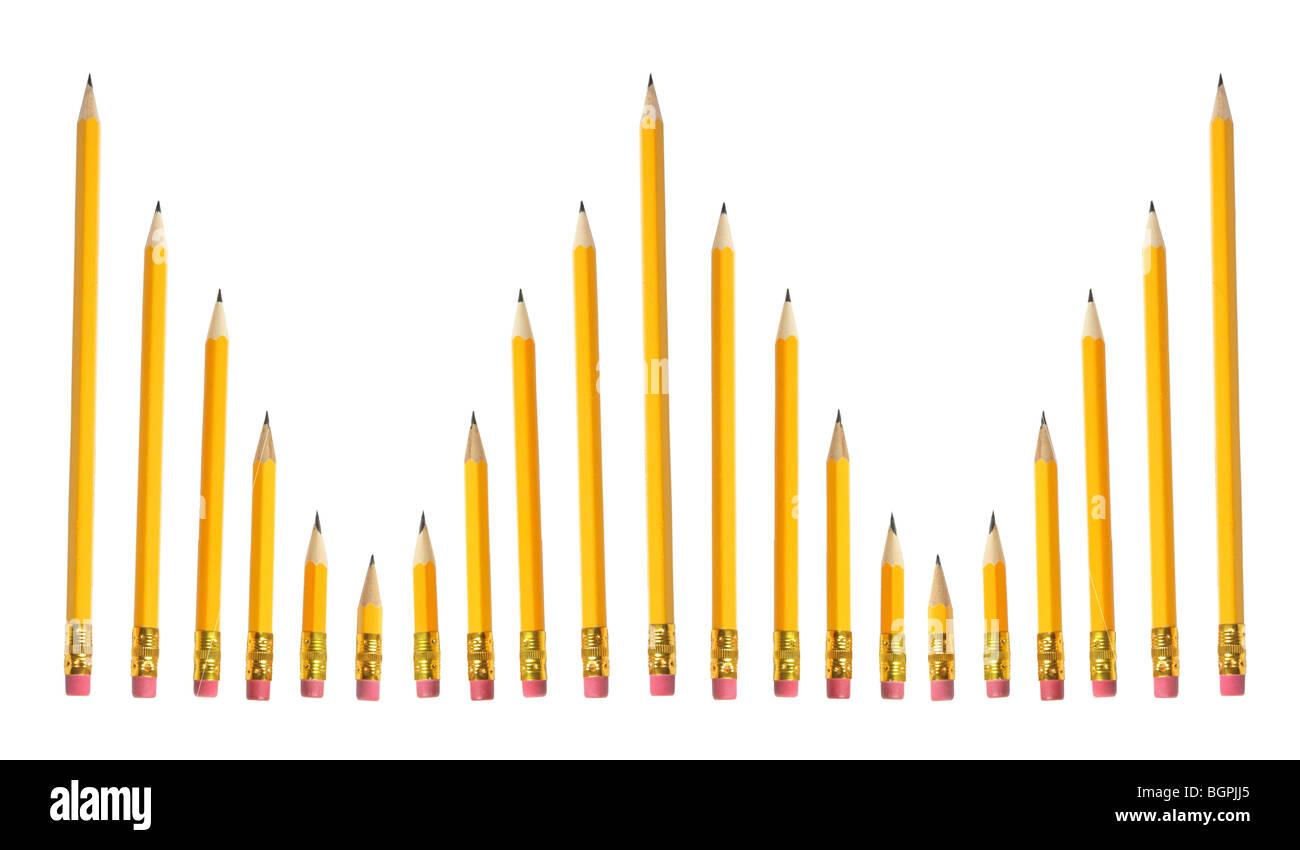 Arrangement of Pencils - Stock Image