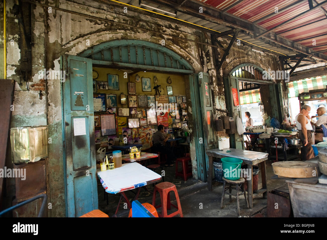 old chinese restaurant in china town bangkok thailand stock photo 27542519 alamy. Black Bedroom Furniture Sets. Home Design Ideas