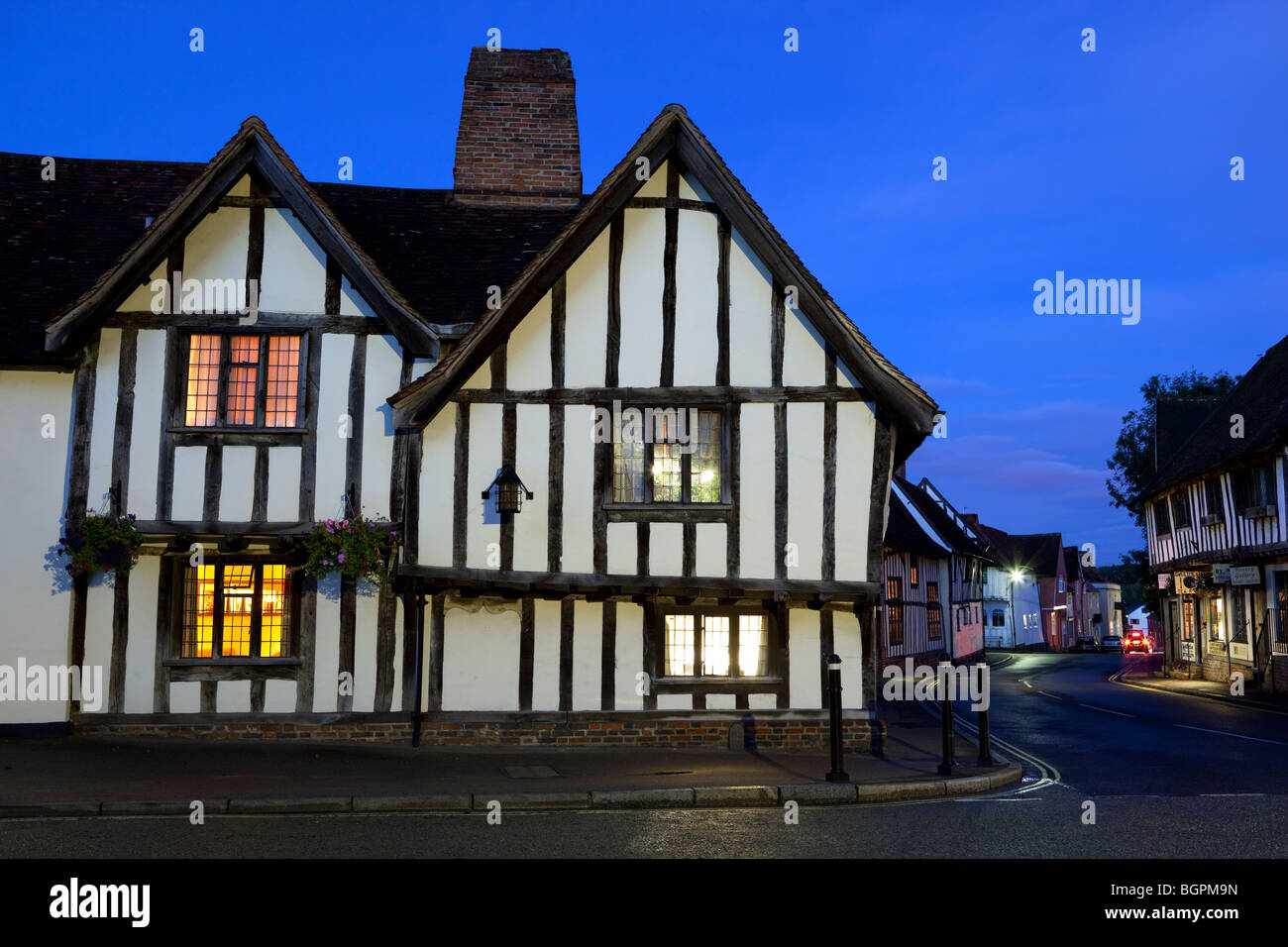 Swan Hotel at dusk - Stock Image