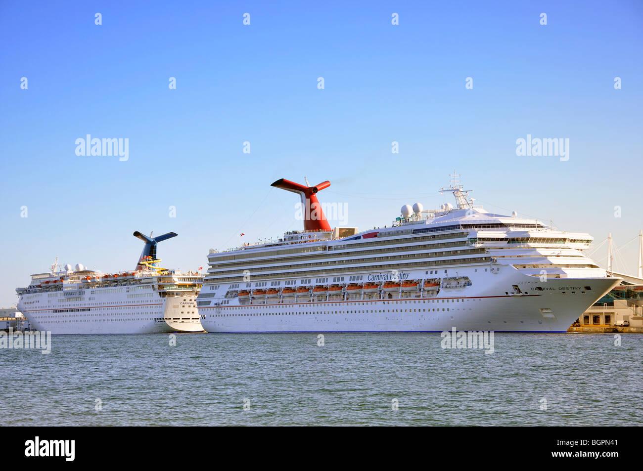 Cruise ships, Miami, Florida, USA - Stock Image