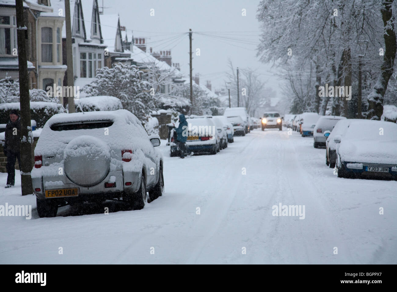 Extreme winter weather,Ecclesall Road, Sheffield in January