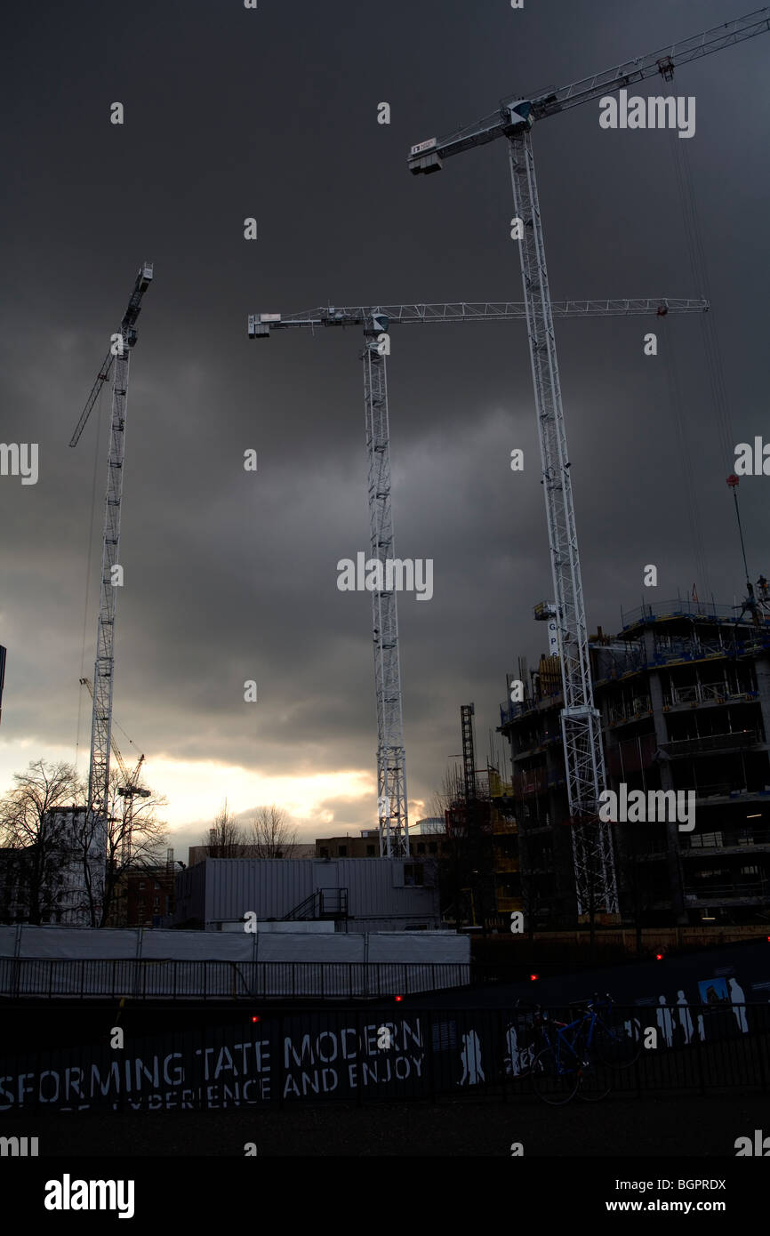 Redevelopment project in south London, England, Britain, UK - Stock Image