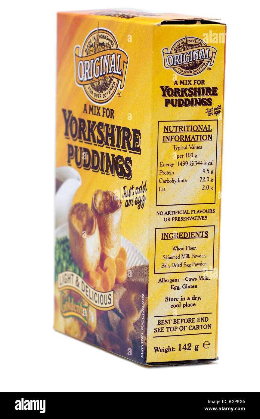 Goldenfry mix for 'Yorkshire pudding' - Stock Image