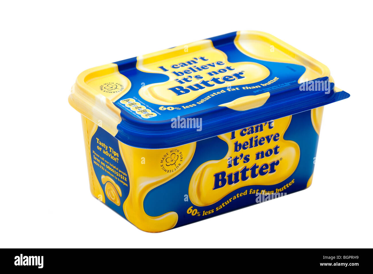 500 gram tub of' I Can't believe its not butter' margarine - Stock Image