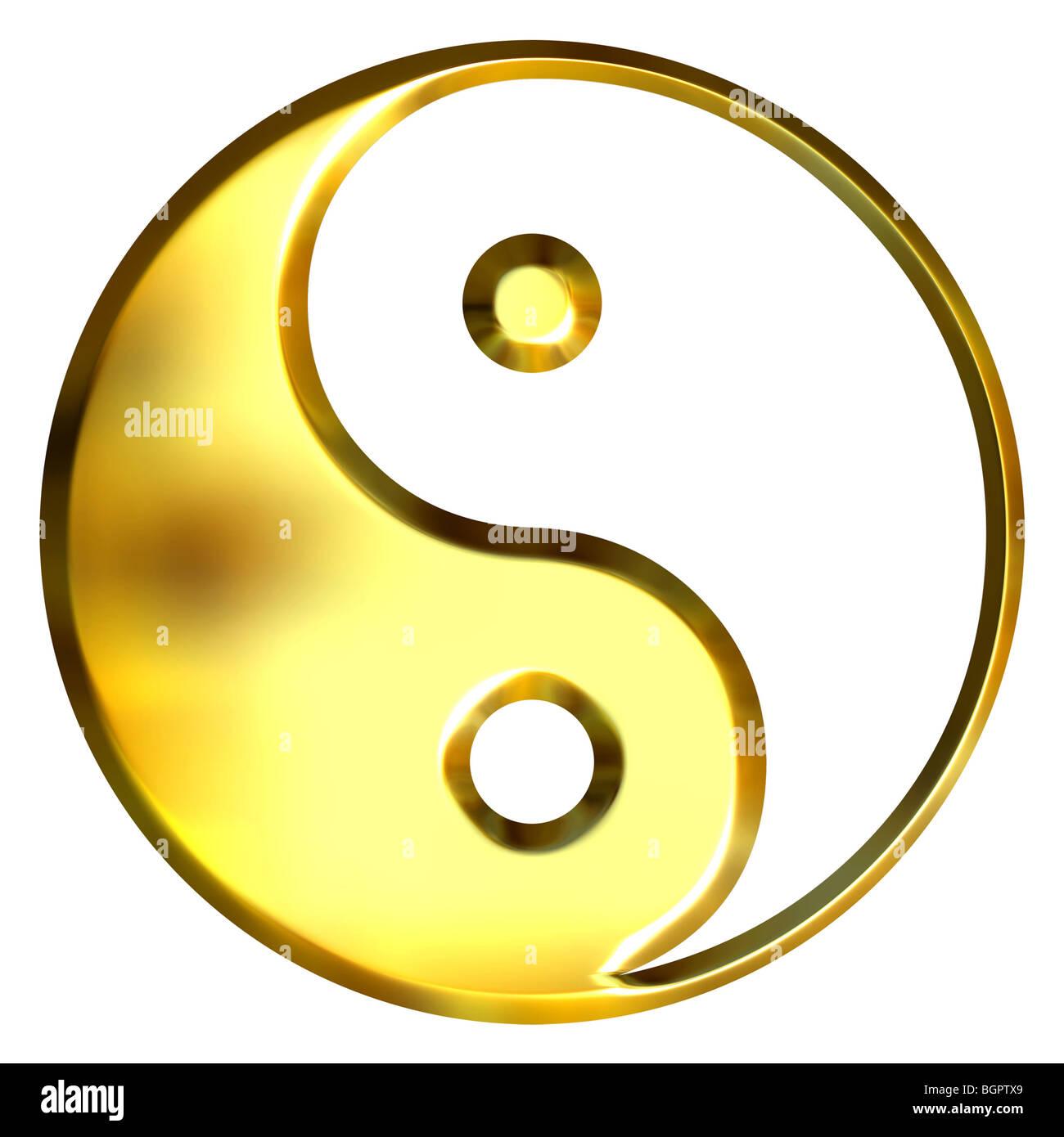 3d golden tao symbol stock photo 27547361 alamy 3d golden tao symbol buycottarizona Images