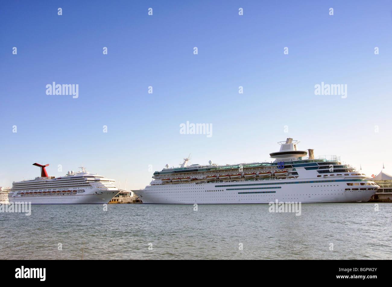 Cruise ships Miami, Florida, USA - Stock Image