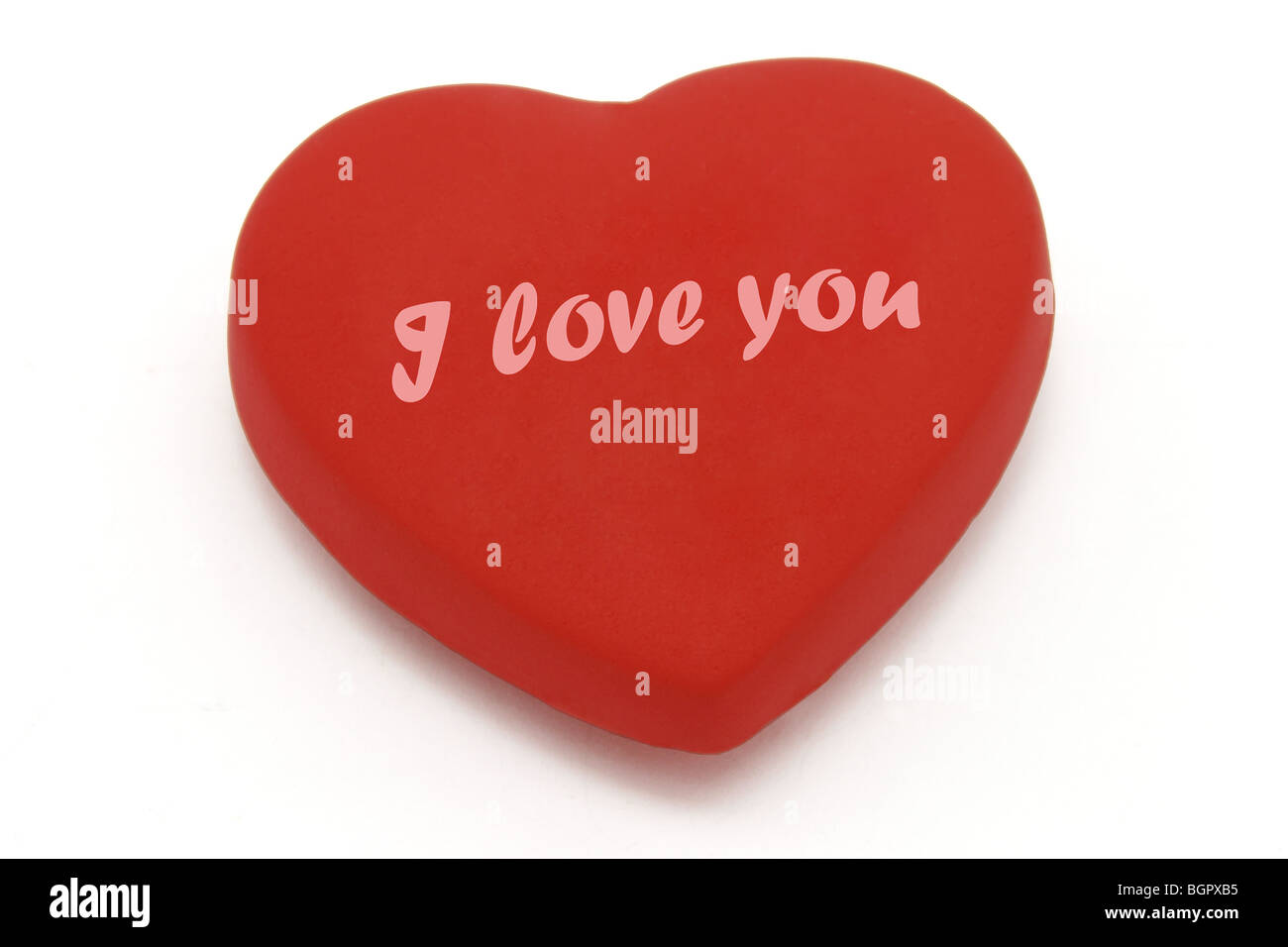 Heart Shaped Symbol With I Love You And Copy Space For More Texts