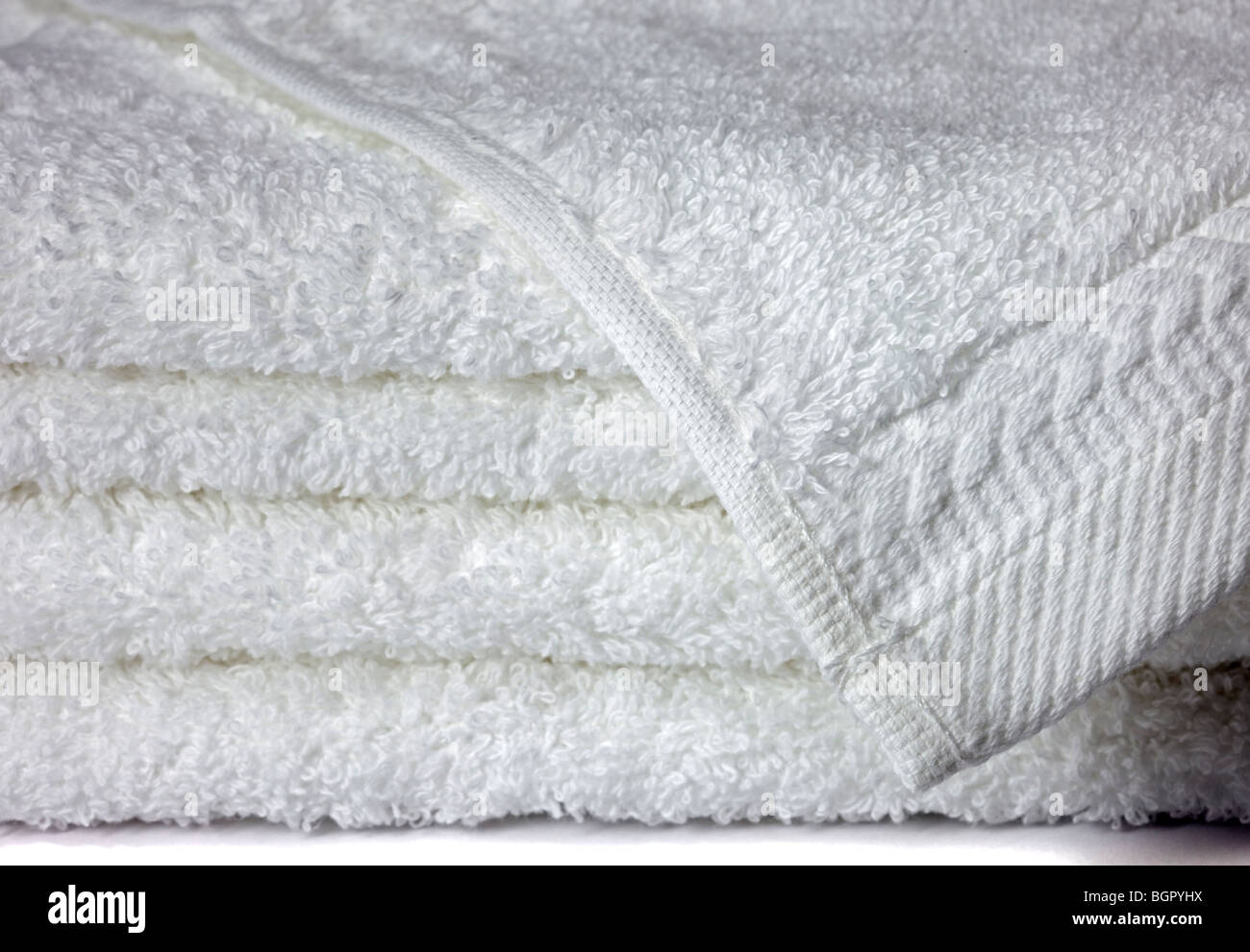 White Towel Bale - Stock Image
