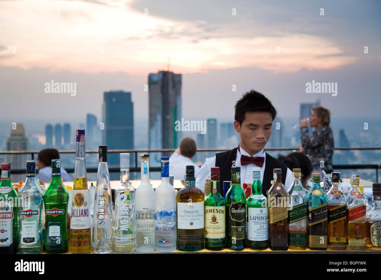Bar Vertigo, Business district, Bangkok, Thailand - Stock Image
