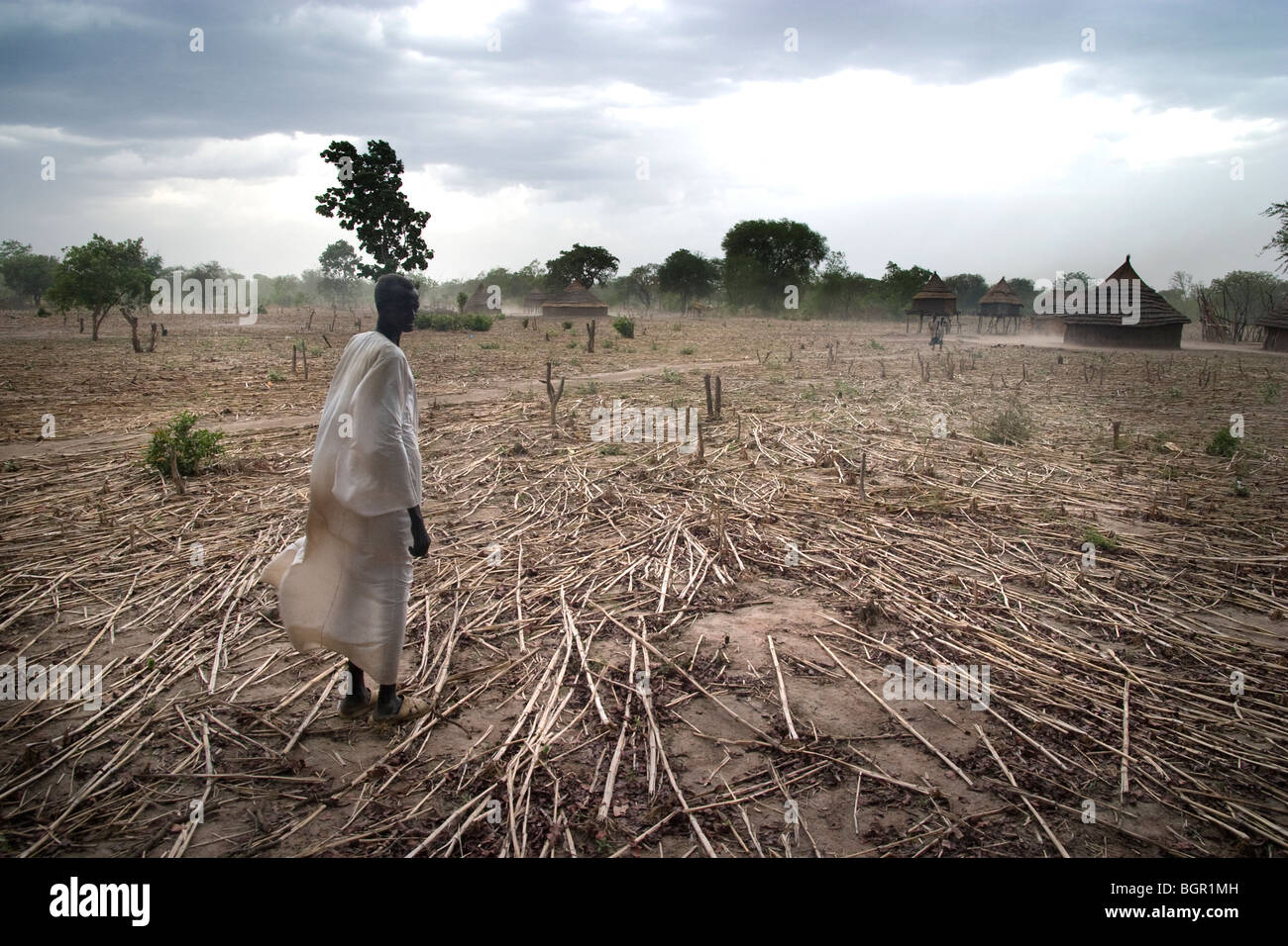 A Dinka man in Southern Sudan - Stock Image